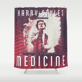 VINTAGE MEDICINE POSTER Shower Curtain