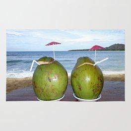 Fresh Coconut Juice by the Beach Rug