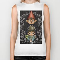 over the garden wall Biker Tanks featuring Over the Garden Wall. by toibi