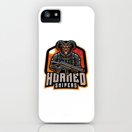 Goat Gunners Esport Mascot Logo Design iPhone Case