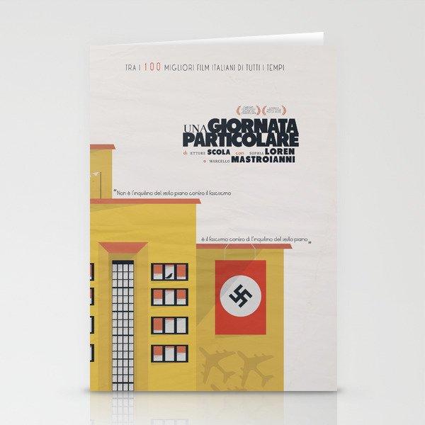 Una giornata particolare, alternative movie poster, Marcello Mastroianni, Sophia Loren, italian film Stationery Cards