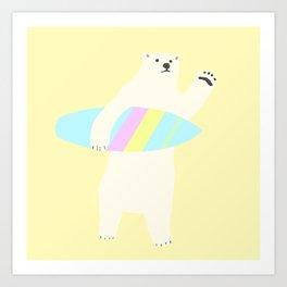 POLAR SURFER Art Print