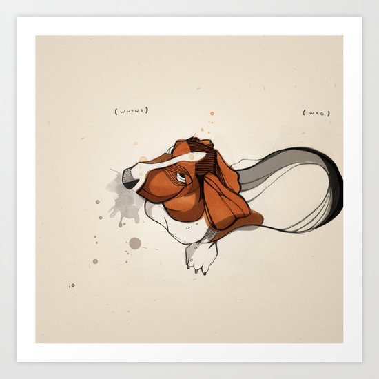 Clancy Berry ( 2002 - 2010 ): Whine // Wag Art Print