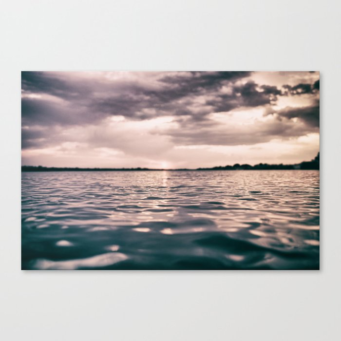 The calm #lake Canvas Print
