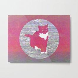 Cat Next Door Metal Print