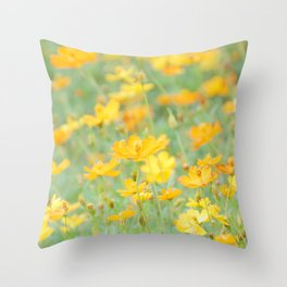 Small yellow flower Throw Pillow