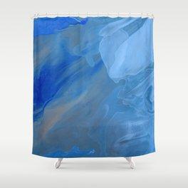 Blue Blue Shower Curtain
