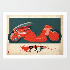 Kanedas Bike Art Print
