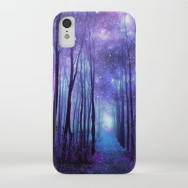 Fantasy Forest Path Icy Violet Blue iPhone Case