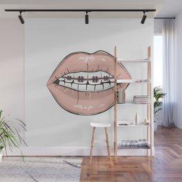 Lips vs braces Wall Mural