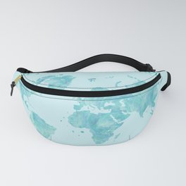 Let's live an adventure world map Fanny Pack
