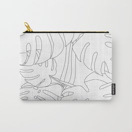 Monstera  Leaf Art Print. Carry-All Pouch