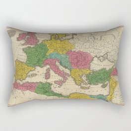Vintage Map of The Roman Empire (1831) Rectangular Pillow