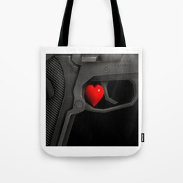 Wait! Guns, firearms power Tote Bag