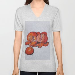 Juicy Tangerines Unisex V-Neck