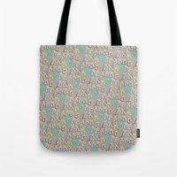 keith haring Tote Bags featuring Haring Squiggle by Indigo Images