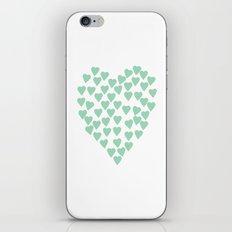 Hearts Heart Mint iPhone Skin