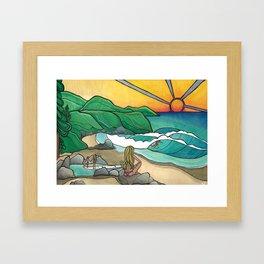 Surf Family Beach Lovers Art by Lauren Tannehill Art Framed Art Print