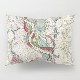 Vintage Map of the Mississippi River Pillow Sham