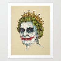 god Art Prints featuring God Save the Villain! by Enkel Dika