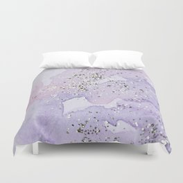 Pastel Glitter Watercolor Painting Duvet Cover