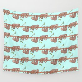 Lazy Baby Sloth Pattern Wall Tapestry
