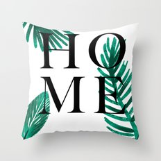 Home palm leaves Throw Pillow