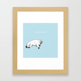 The majestic water bear Framed Art Print