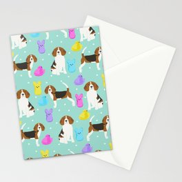 Beagle marshmallow peeps candy spring easter treat tradition for dog lovers Stationery Cards