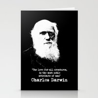 darwin Stationery Cards featuring Darwin by PsychoBudgie