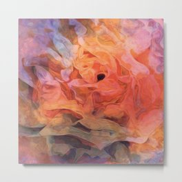 Soft Twilight Rose Metal Print