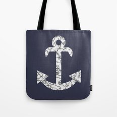Marble Anchor in Navy Tote Bag