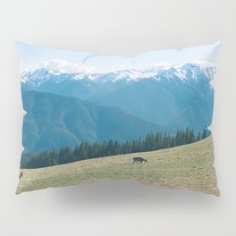 Deers on the Mountain Pillow Sham
