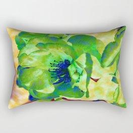 Yellow Rose Abstract Rectangular Pillow