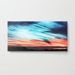 As the sun sets Metal Print
