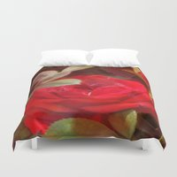 ruby Duvet Covers featuring Ruby by Aubrey
