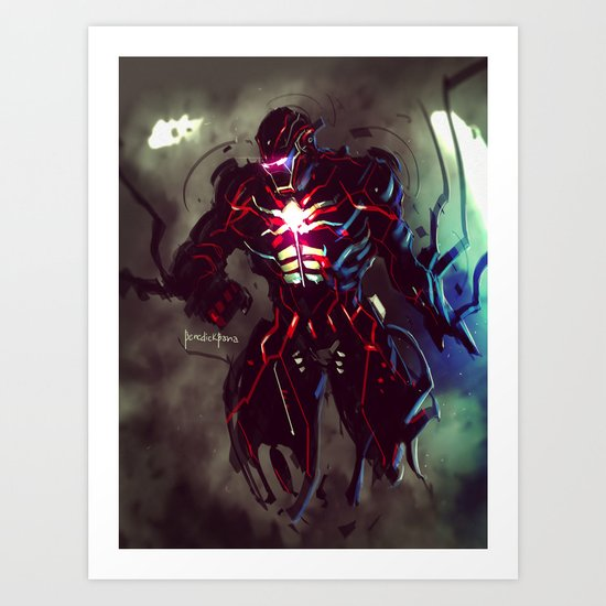 Dark IronMan FanArt Art Print