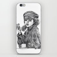 kate moss iPhone & iPod Skins featuring Kate Moss by Anja-Catharina