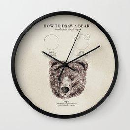 circle, circle, bear Wall Clock