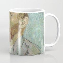 Van Gogh The Starry Night in His Eyes Self Portrait Oil Painting Coffee Mug