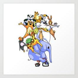 Zoo Escape Art Print