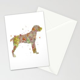 Cesky Fousek Dog Watercolor Painting Stationery Cards