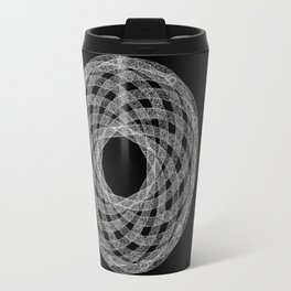 GEOMETRIC NATURE: HELIX b/w Travel Mug