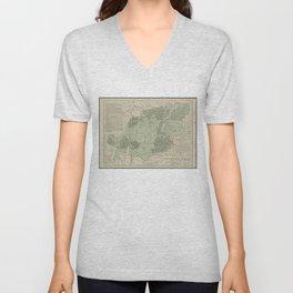 Vintage White Mountains New Hampshire Map (1915) Unisex V-Neck