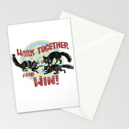 Work Together And Win! Stationery Cards