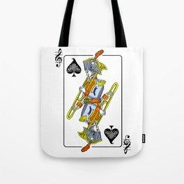 musical poker / trombone Tote Bag