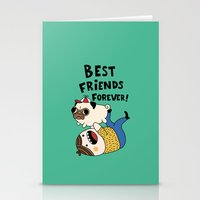 pug Stationery Cards featuring PUG by Jarvis Glasses