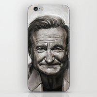 robin williams iPhone & iPod Skins featuring Robin williams by MK-illustration