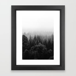 Forest, Black and White Framed Art Print