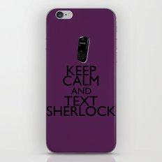 Keep calm and text Sherlock iPhone & iPod Skin